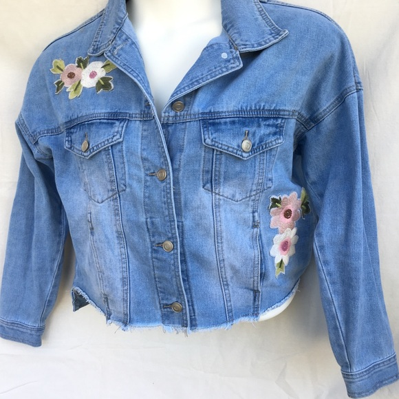 7a8f477aa9c Forever 21 Jackets   Blazers - Forever 21+ Plus Size Embroidered Denim  Jacket